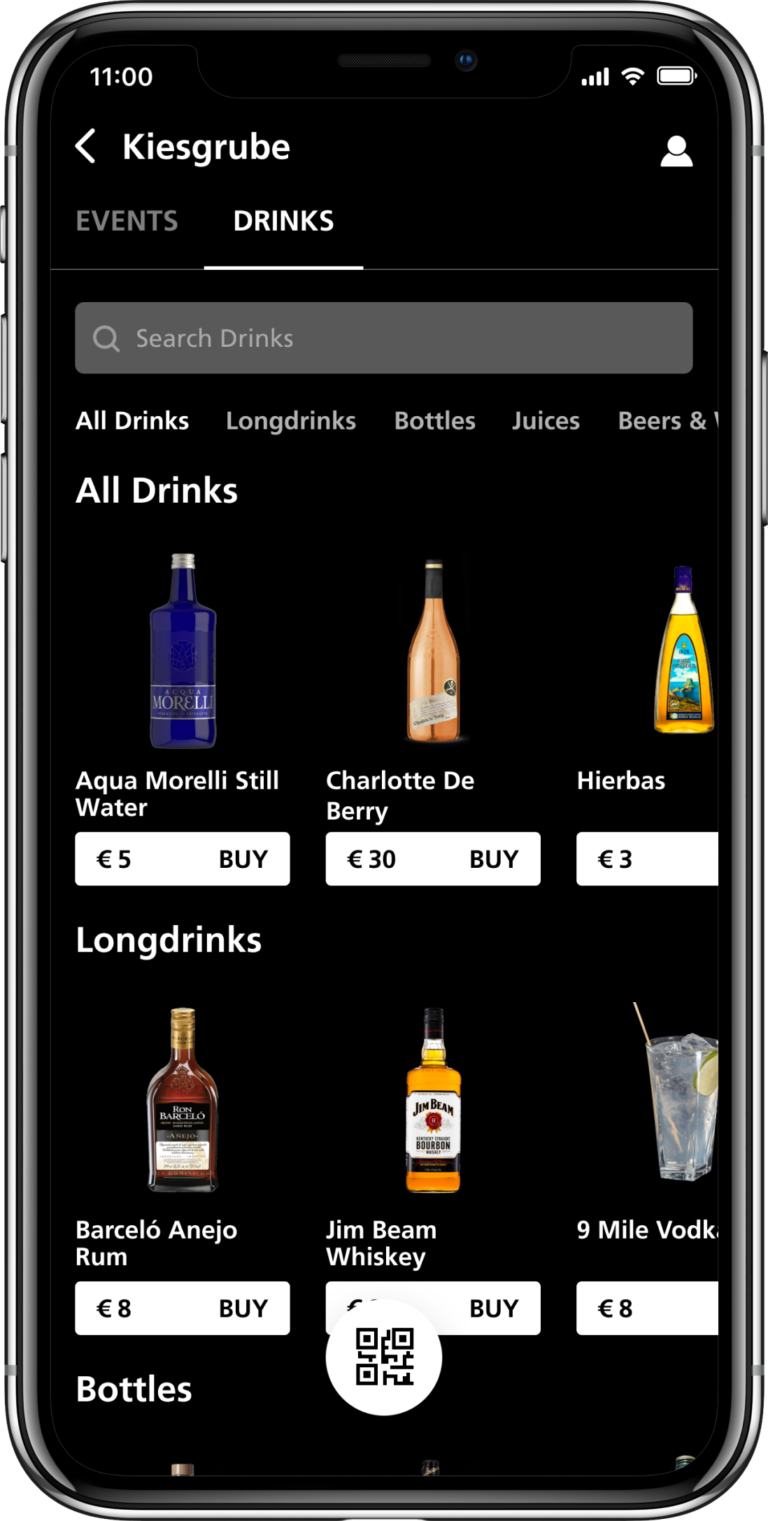 Grid App Menu Drinks