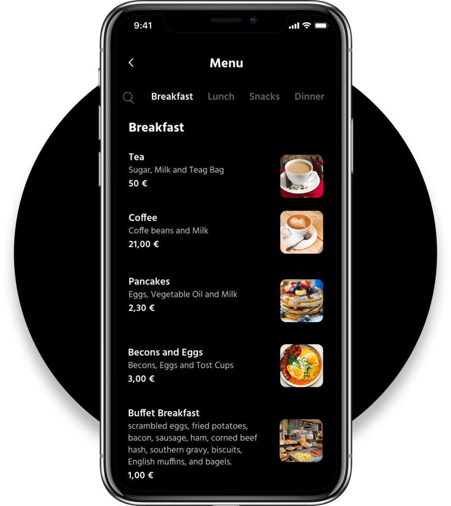 Grid App Room Service Hotels
