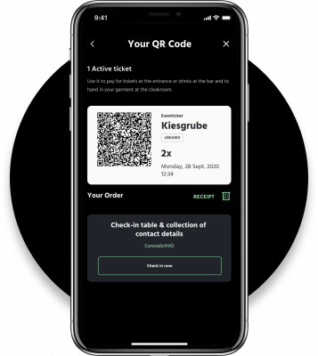 Ticketing via Grid App and QR-Code